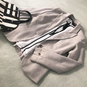 ZARA Light Gray Suit Blazer Jacket